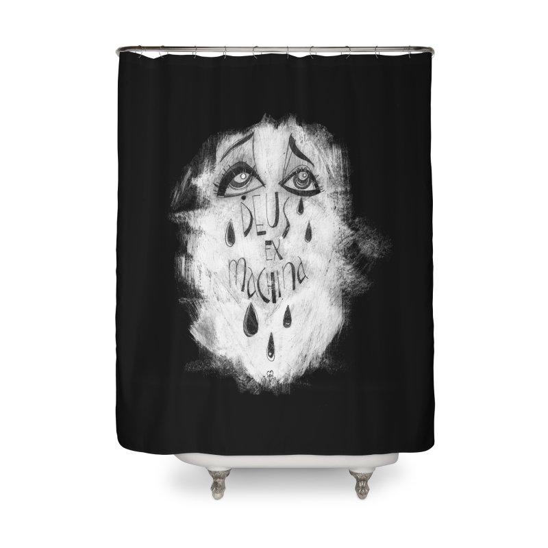Deus Ex Machina (black) Home Shower Curtain by ilustramar's Artist Shop