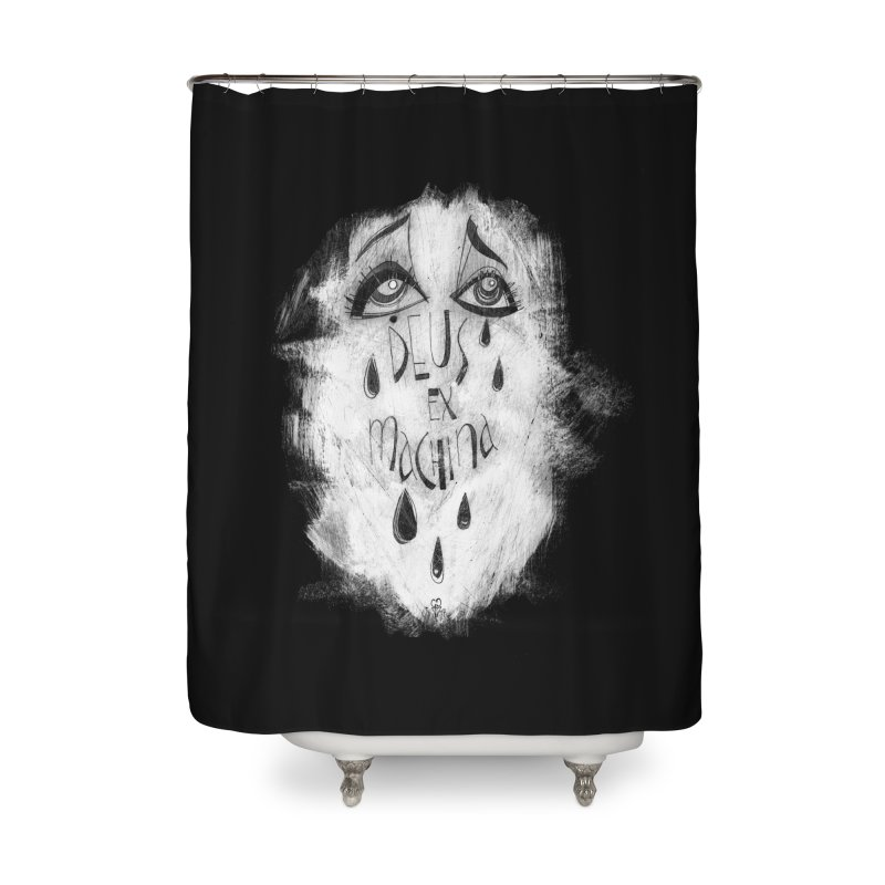 Deus Ex Machina (black) Home Shower Curtain by ilustramar's Artist Shop