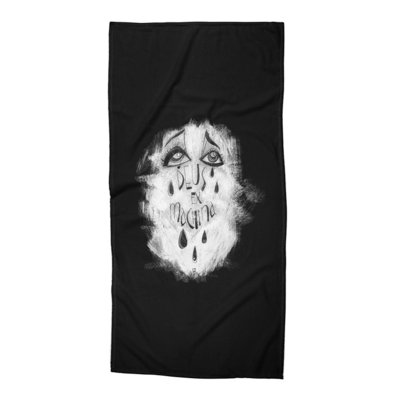Deus Ex Machina (black) Accessories Beach Towel by ilustramar's Artist Shop