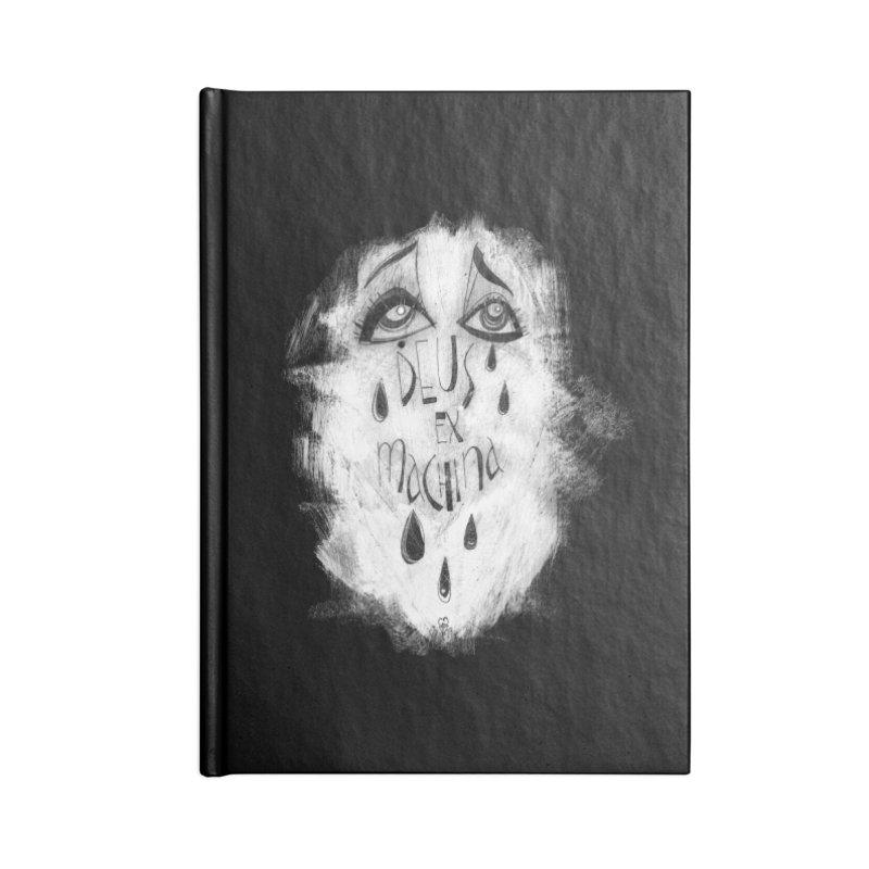 Deus Ex Machina (black) Accessories Blank Journal Notebook by ilustramar's Artist Shop