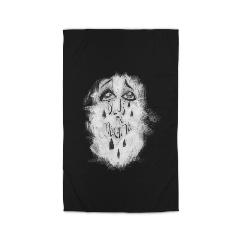 Deus Ex Machina (black) Home Rug by ilustramar's Artist Shop