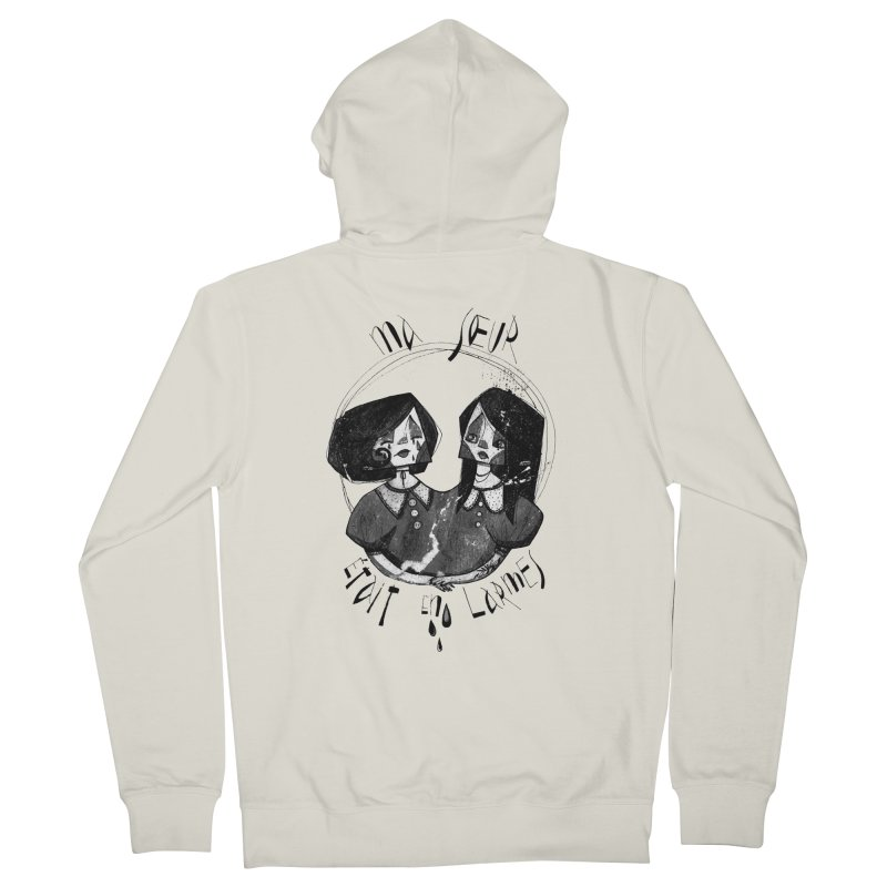 En larmes Women's French Terry Zip-Up Hoody by ilustramar's Artist Shop