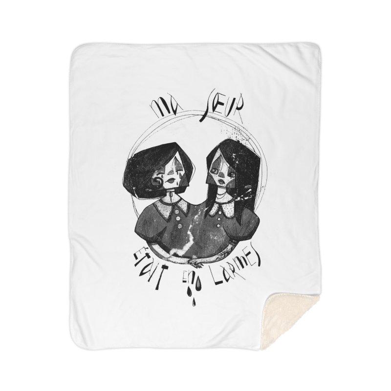 En larmes Home Sherpa Blanket Blanket by ilustramar's Artist Shop