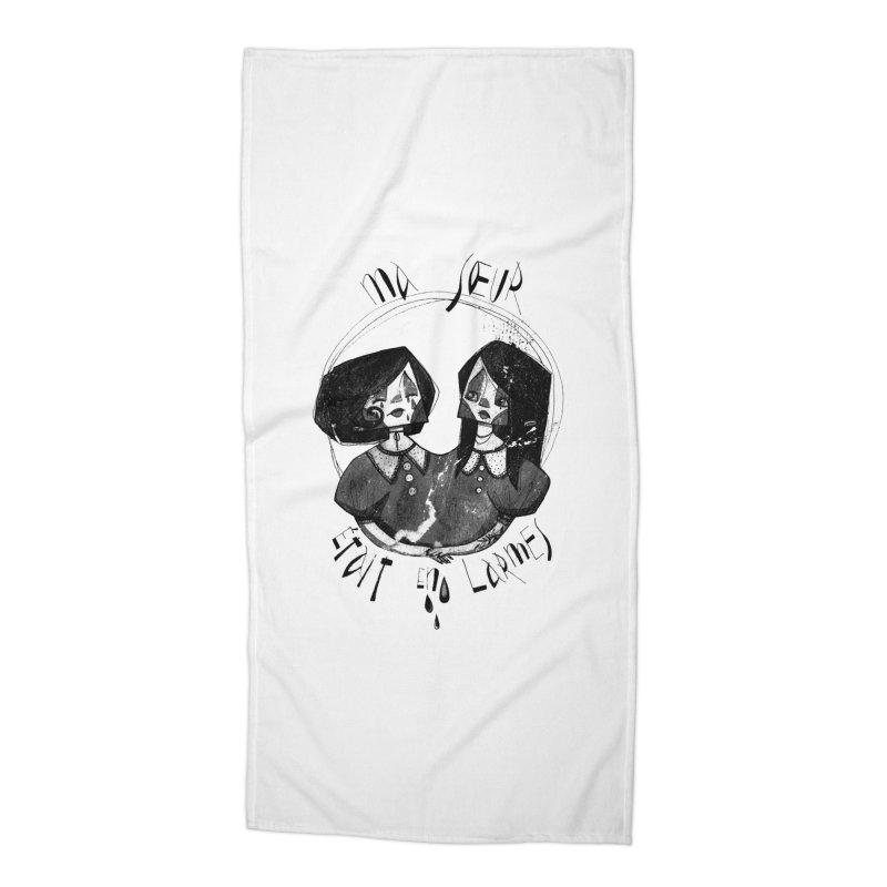 En larmes Accessories Beach Towel by ilustramar's Artist Shop
