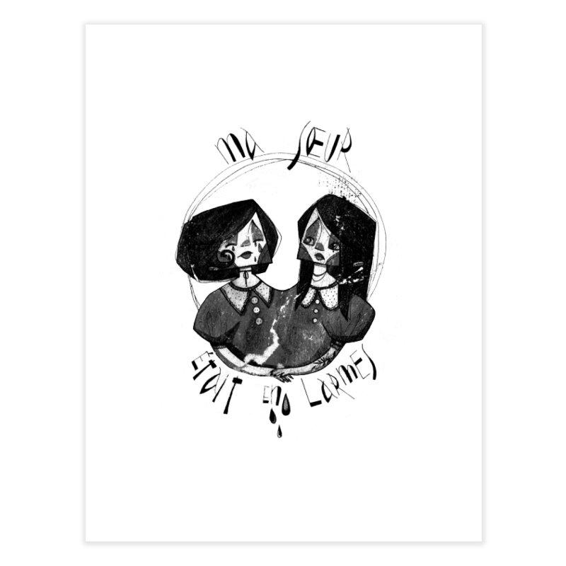 En larmes Home Fine Art Print by ilustramar's Artist Shop