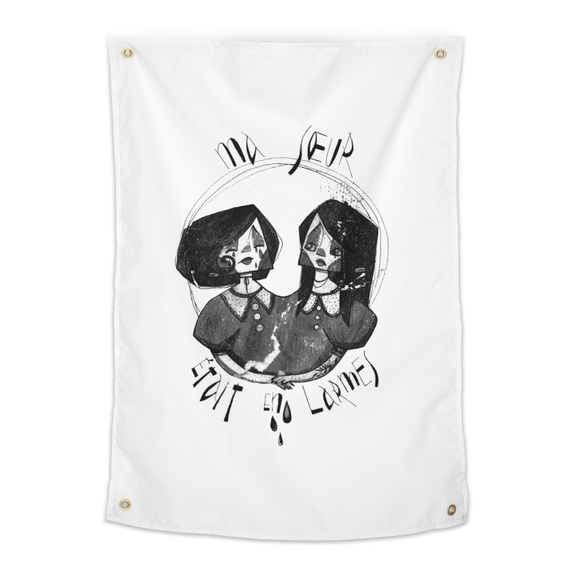 En larmes Home Tapestry by ilustramar's Artist Shop