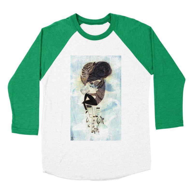 Lecture Men's Baseball Triblend T-Shirt by ilustramar's Artist Shop
