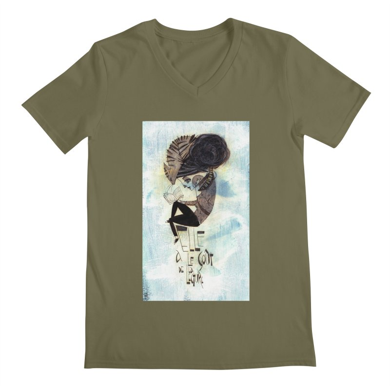Lecture Men's V-Neck by ilustramar's Artist Shop