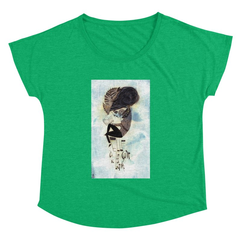 Lecture Women's Dolman Scoop Neck by ilustramar's Artist Shop