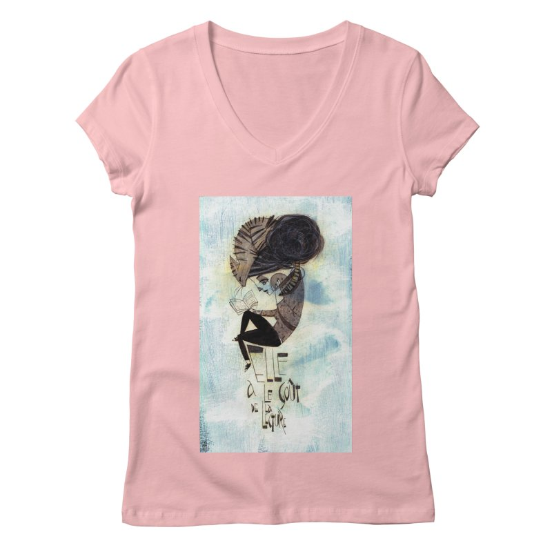 Lecture Women's Regular V-Neck by ilustramar's Artist Shop