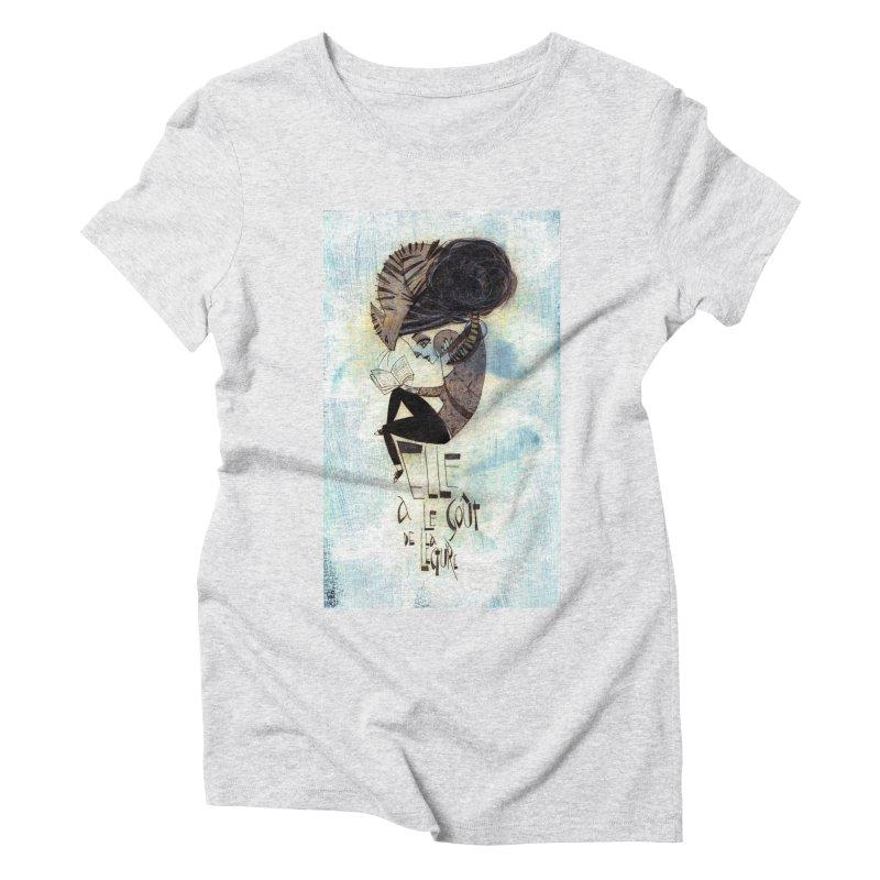 Lecture Women's Triblend T-Shirt by ilustramar's Artist Shop