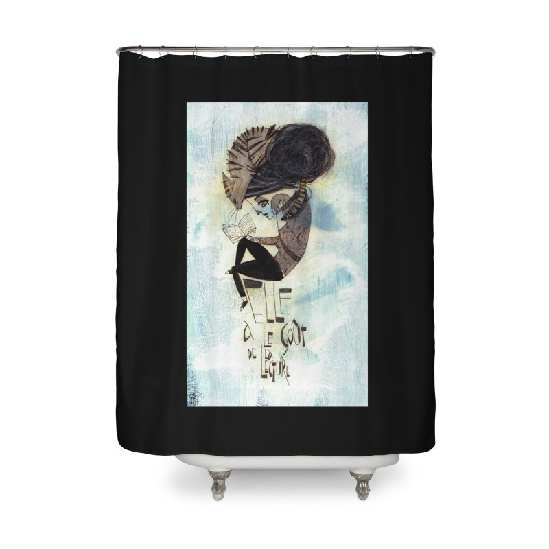 Lecture Home Shower Curtain by ilustramar's Artist Shop