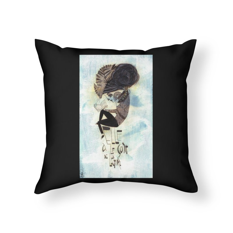 Lecture Home Throw Pillow by ilustramar's Artist Shop