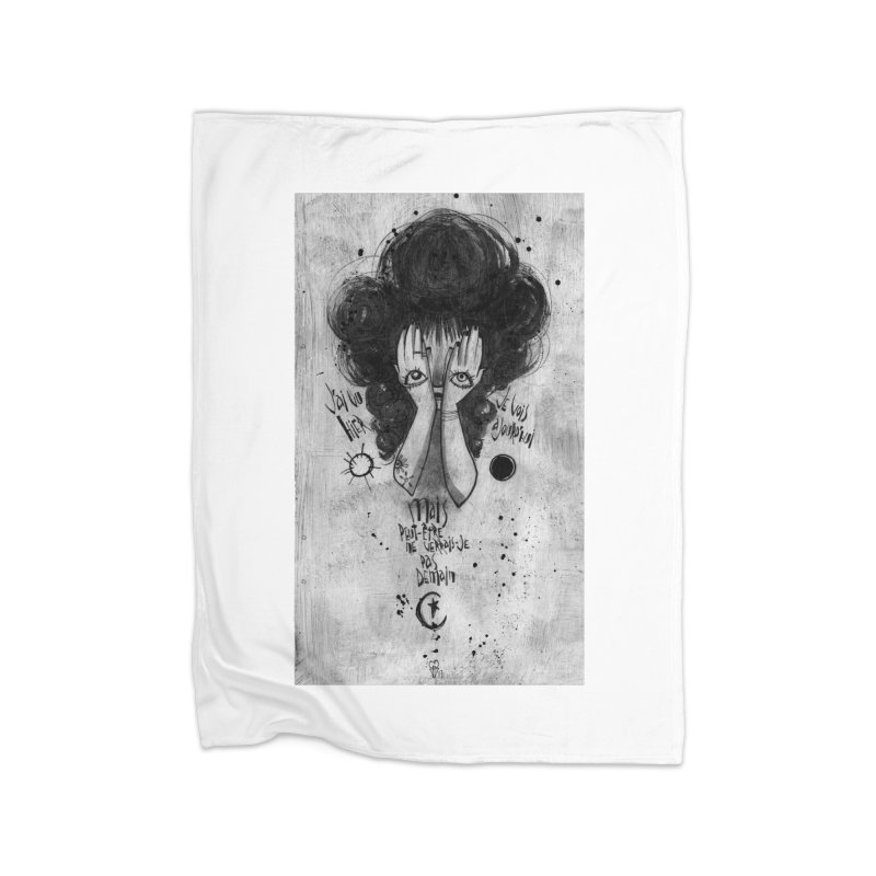 Demain Home Fleece Blanket Blanket by ilustramar's Artist Shop