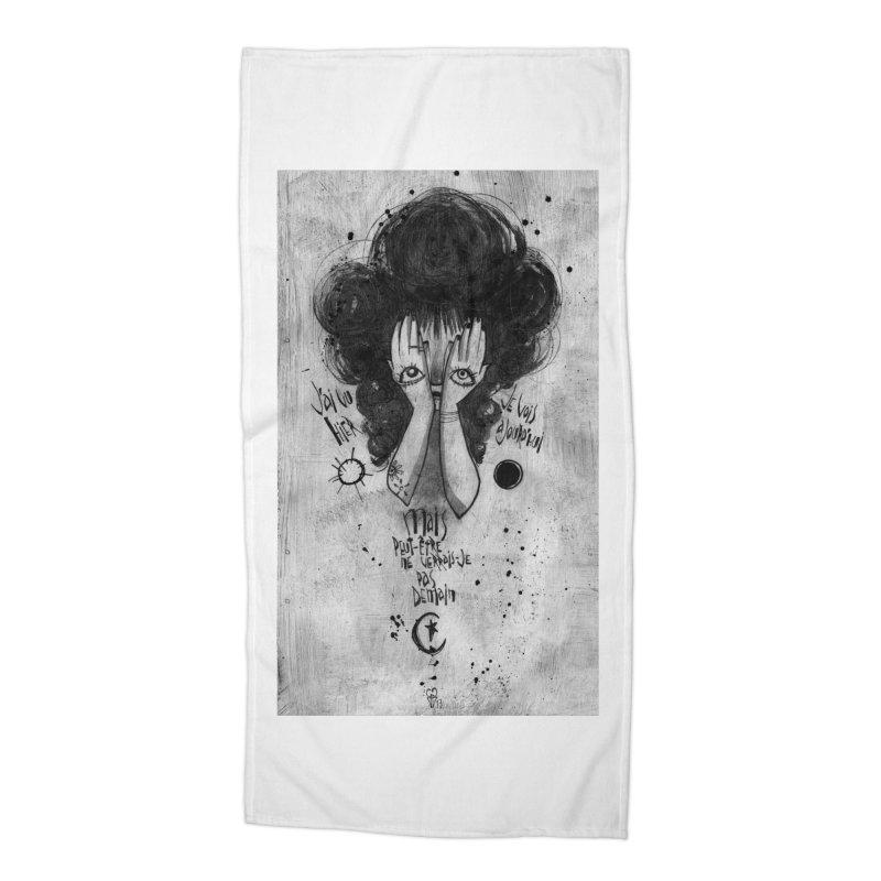 Demain Accessories Beach Towel by ilustramar's Artist Shop