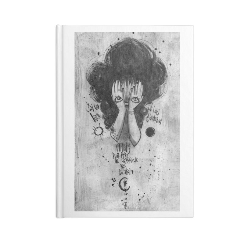 Demain Accessories Lined Journal Notebook by ilustramar's Artist Shop