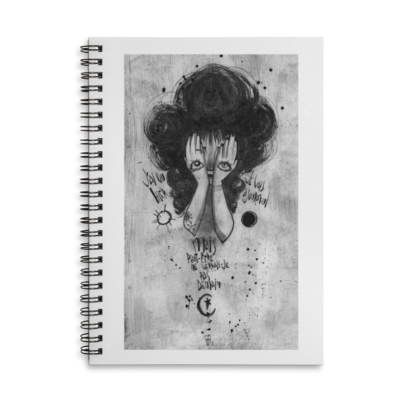 Demain Accessories Lined Spiral Notebook by ilustramar's Artist Shop