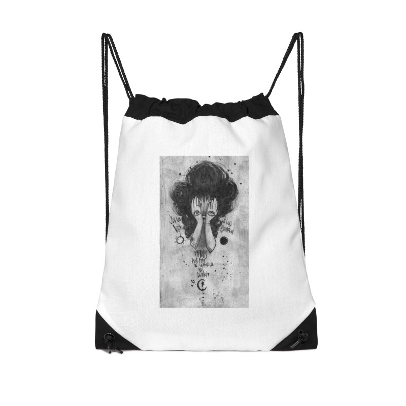 Demain Accessories Drawstring Bag Bag by ilustramar's Artist Shop