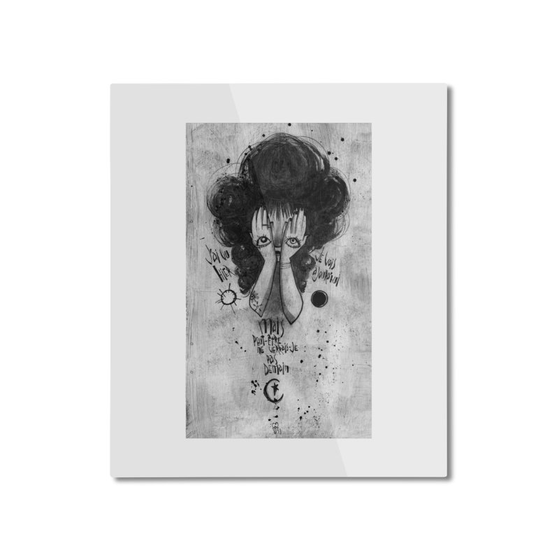 Demain Home Mounted Aluminum Print by ilustramar's Artist Shop