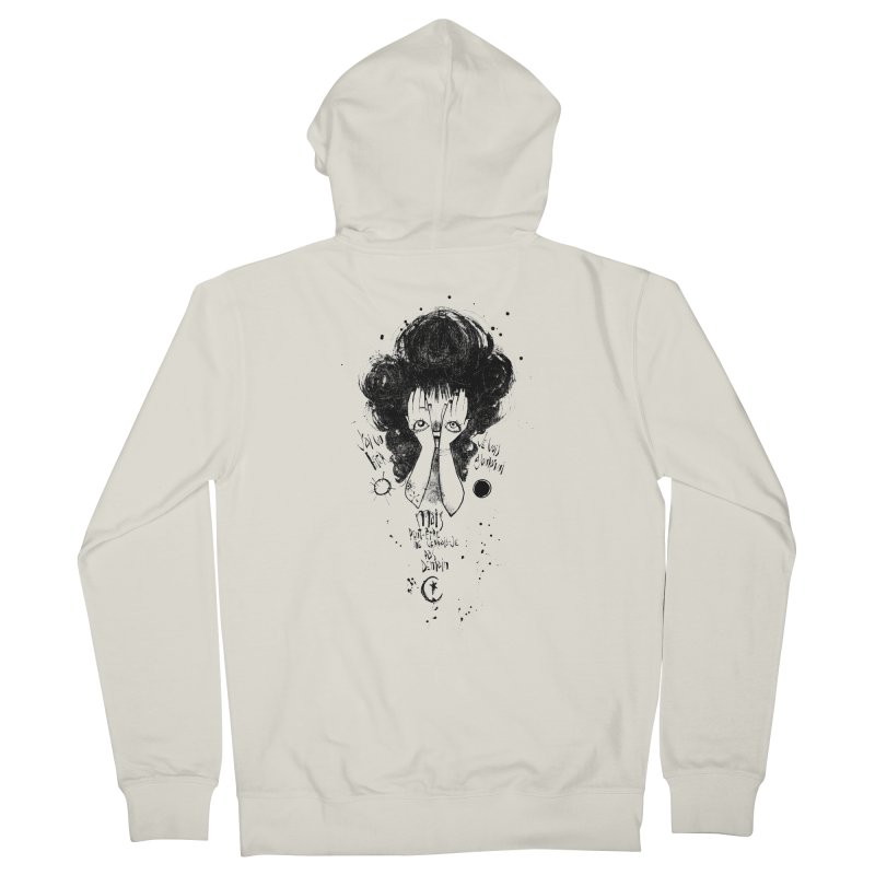 Demain Women's French Terry Zip-Up Hoody by ilustramar's Artist Shop