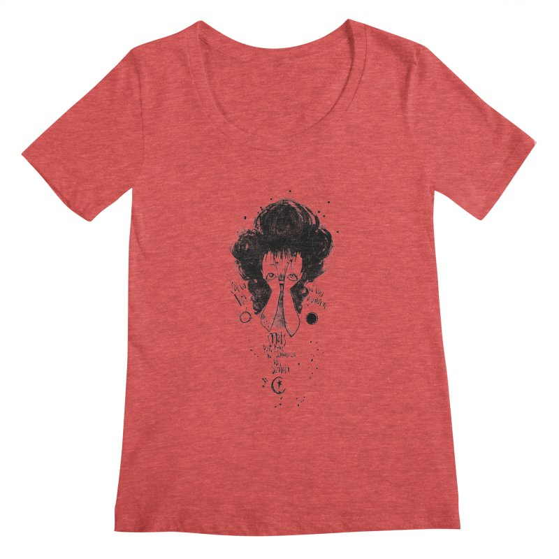 Demain Women's Scoopneck by ilustramar's Artist Shop