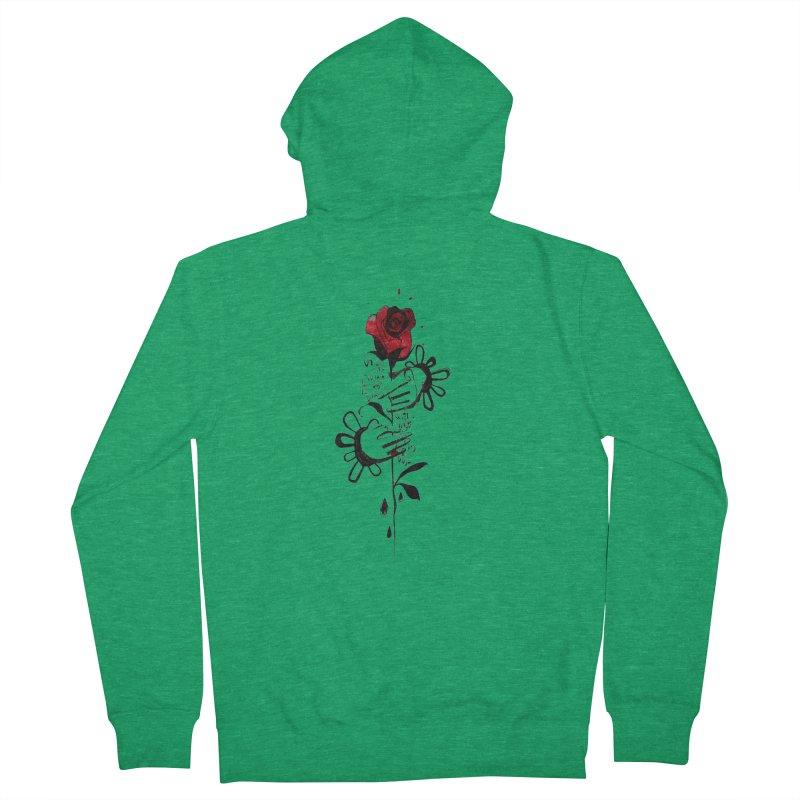 Wild Rose Men's Zip-Up Hoody by ilustramar's Artist Shop