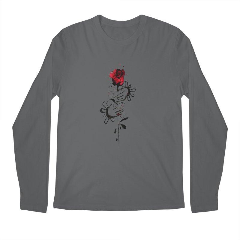 Wild Rose Men's Longsleeve T-Shirt by ilustramar's Artist Shop
