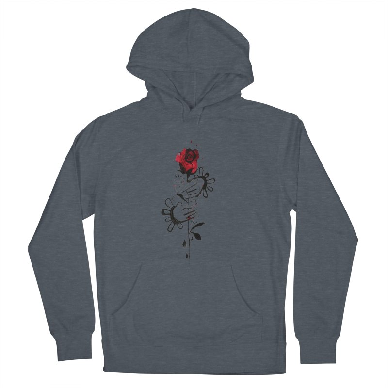 Wild Rose Women's French Terry Pullover Hoody by ilustramar's Artist Shop