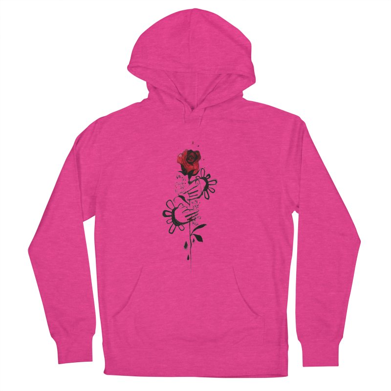 Wild Rose Men's French Terry Pullover Hoody by ilustramar's Artist Shop