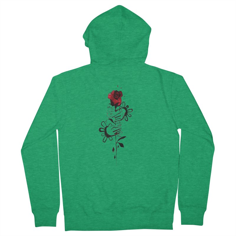 Wild Rose Men's French Terry Zip-Up Hoody by ilustramar's Artist Shop