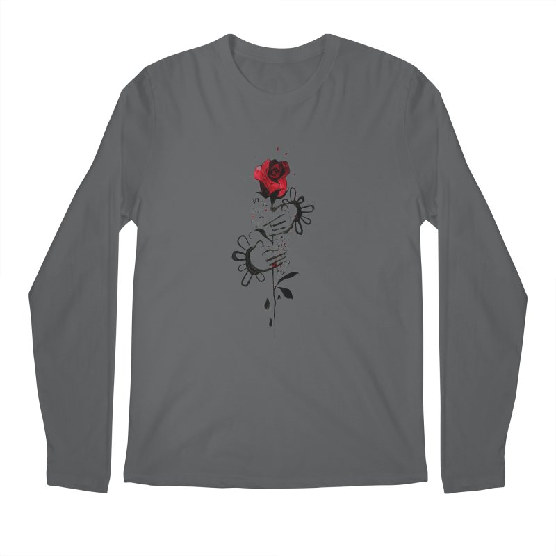 Wild Rose Men's Longsleeve T-Shirt by ilustramar's Artist Shop