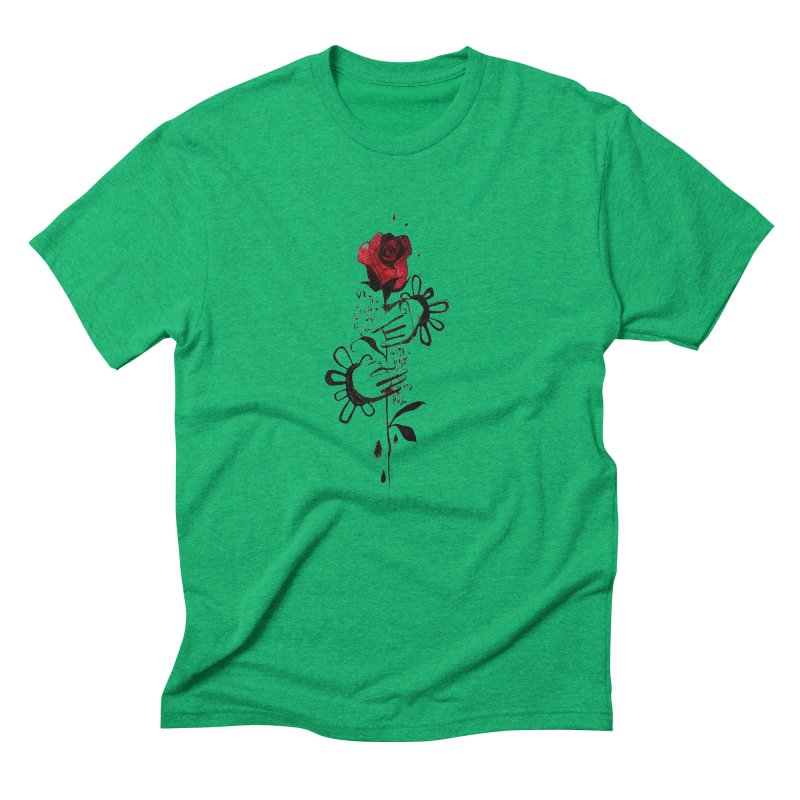 Wild Rose Men's Triblend T-Shirt by ilustramar's Artist Shop