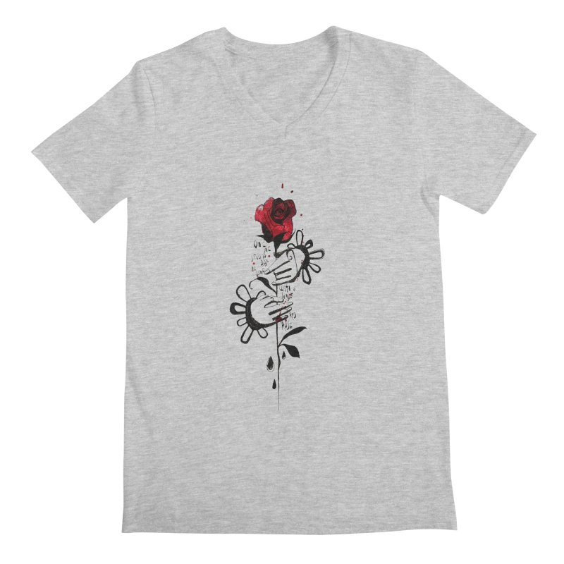 Wild Rose Men's V-Neck by ilustramar's Artist Shop