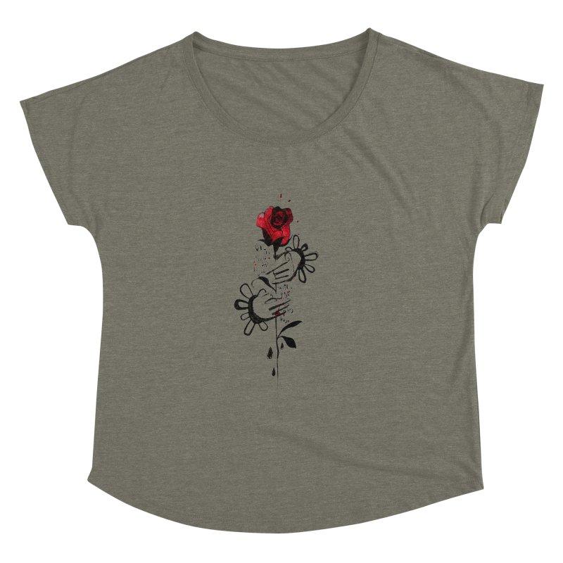 Wild Rose Women's Dolman Scoop Neck by ilustramar's Artist Shop