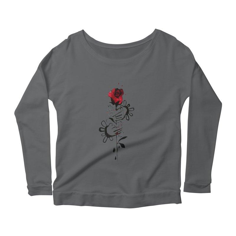 Wild Rose Women's Longsleeve Scoopneck  by ilustramar's Artist Shop