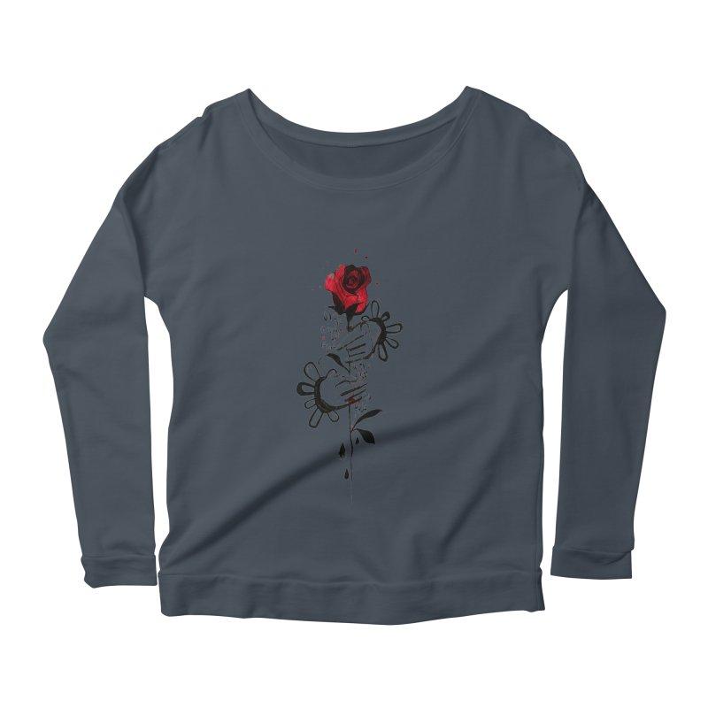 Wild Rose Women's Scoop Neck Longsleeve T-Shirt by ilustramar's Artist Shop