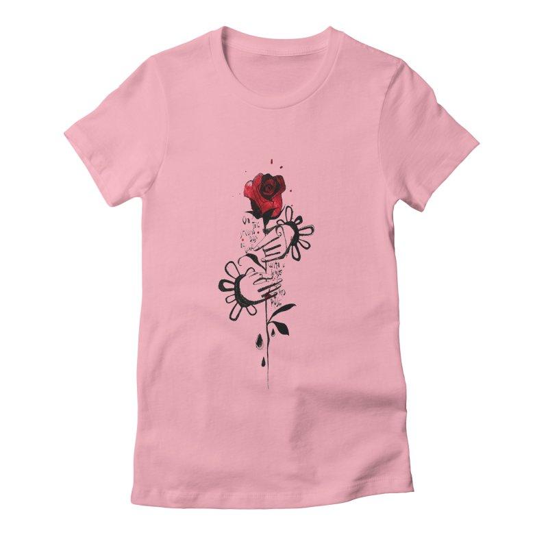Wild Rose Women's Fitted T-Shirt by ilustramar's Artist Shop