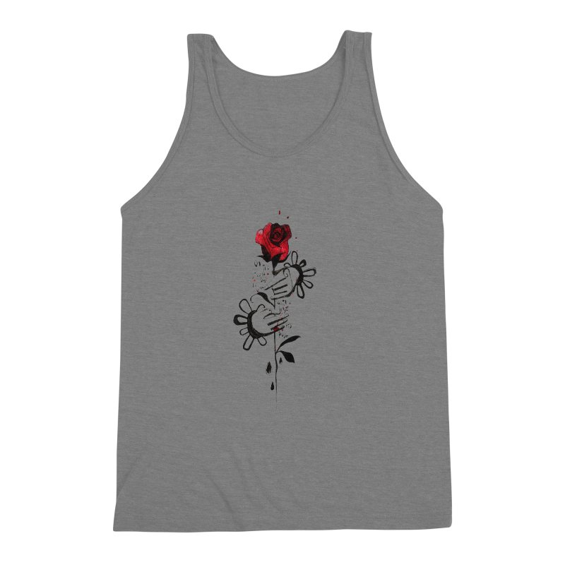 Wild Rose Men's Triblend Tank by ilustramar's Artist Shop