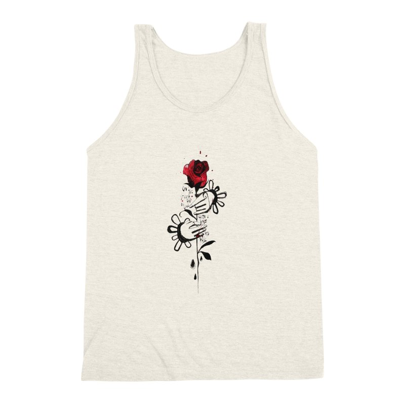 Wild Rose Men's Triblend Tank by ilustramar's Artist Shop