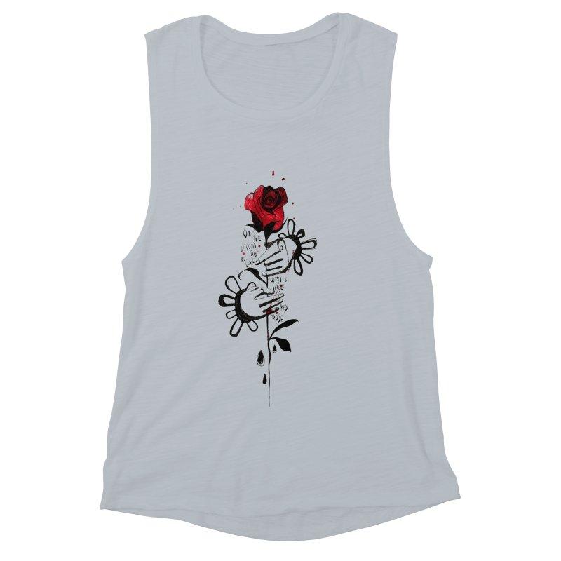 Wild Rose Women's Muscle Tank by ilustramar's Artist Shop