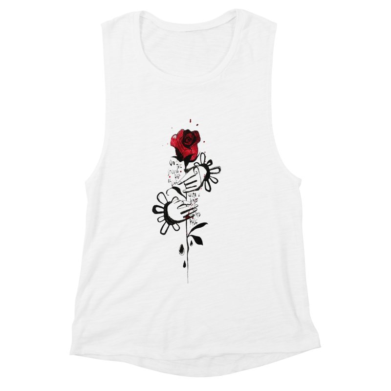 Wild Rose Women's Muscle Tank by ilustramar's Artist Shop