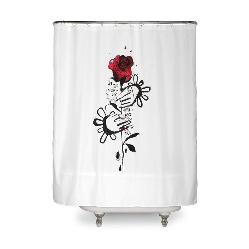 Wild Rose Home Shower Curtain by ilustramar's Artist Shop