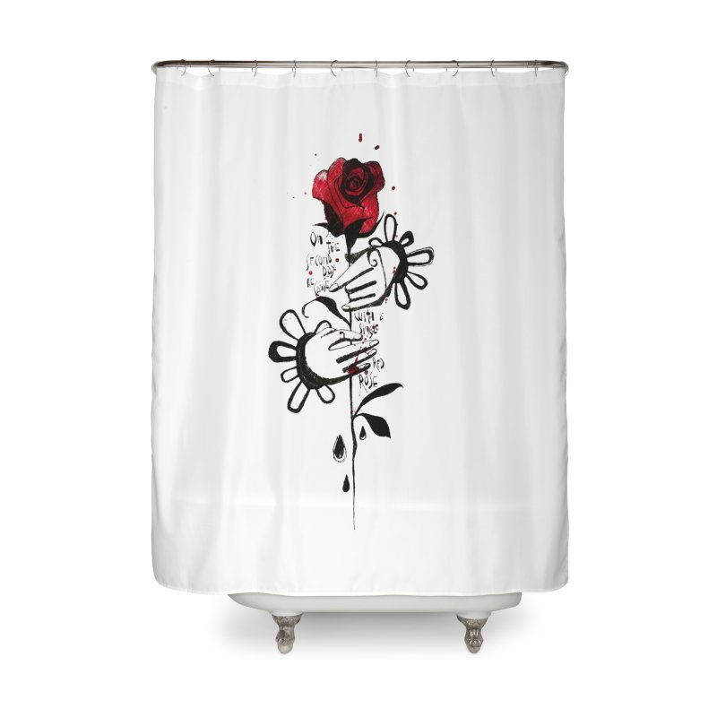 Wild Rose Home Shower Curtain by ilustramar's Artist Shop