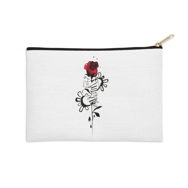 Wild Rose Accessories Zip Pouch by ilustramar's Artist Shop