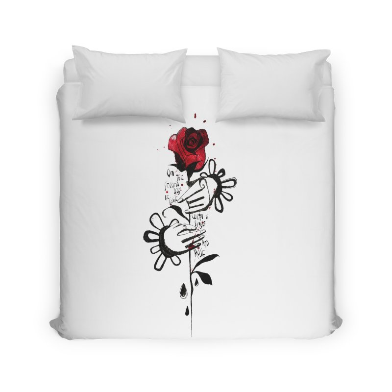 Wild Rose Home Duvet by ilustramar's Artist Shop