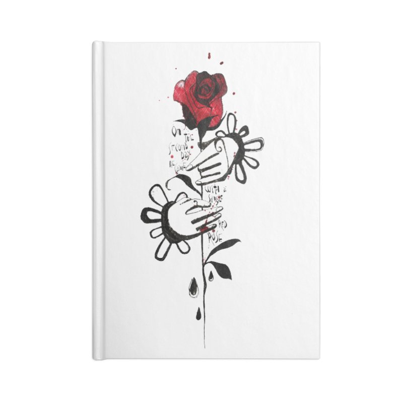 Wild Rose Accessories Lined Journal Notebook by ilustramar's Artist Shop