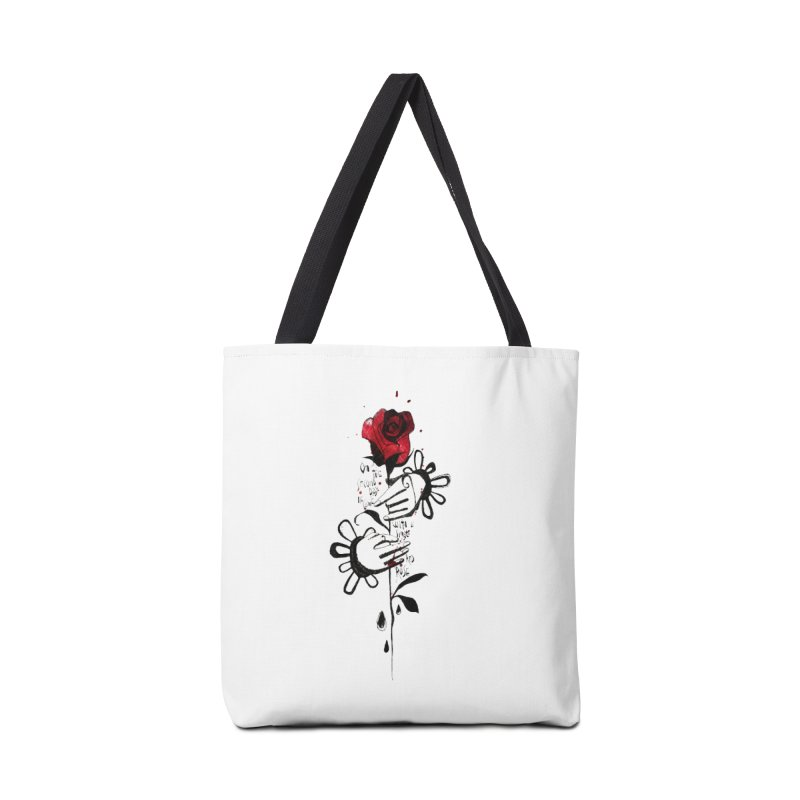 Wild Rose Accessories Tote Bag Bag by ilustramar's Artist Shop