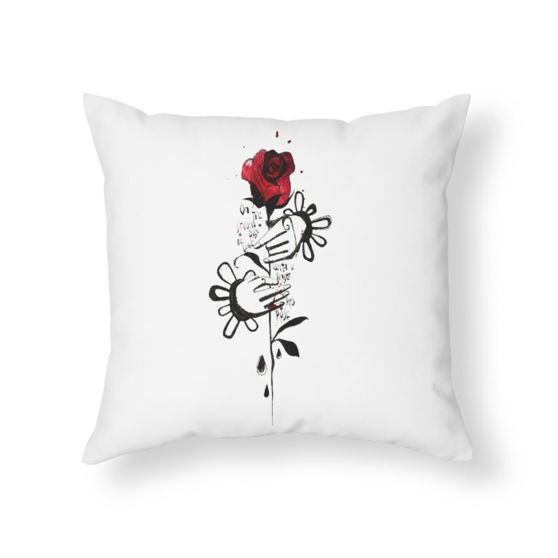 Wild Rose Home Throw Pillow by ilustramar's Artist Shop