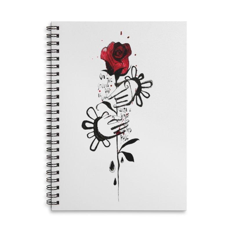 Wild Rose Accessories Lined Spiral Notebook by ilustramar's Artist Shop