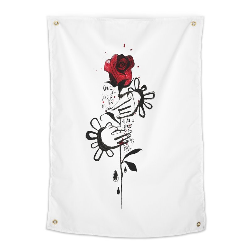 Wild Rose Home Tapestry by ilustramar's Artist Shop